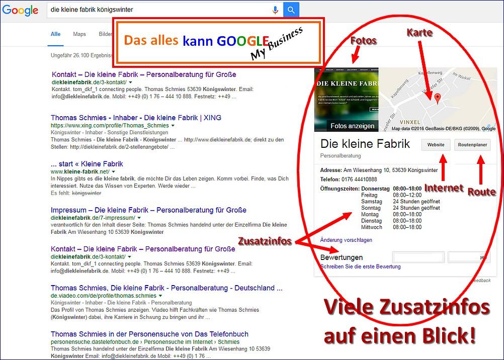 Bessere Onlinepräsenz mit Google My business...